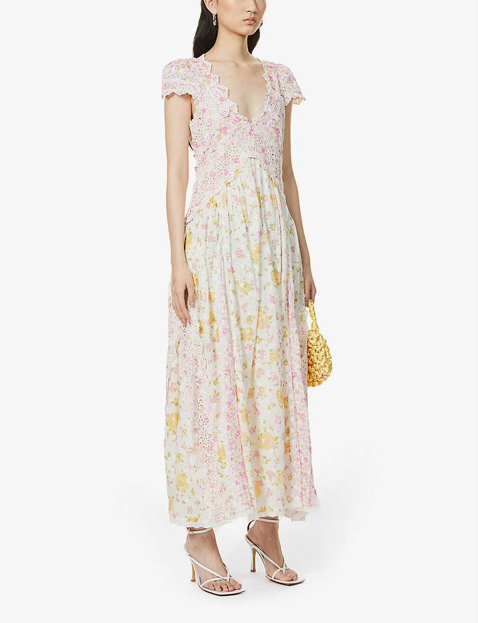 LoveShackFancy Archer floral-print cotton midi dress