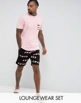 Asos Pyjama Set With Print