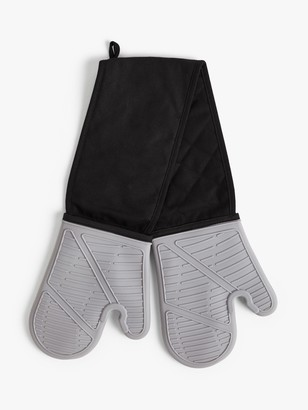 John Lewis & Partners Silicone Double Oven Glove, Grey