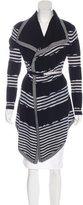 Karen Millen Stripe Wool Cardigan