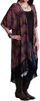 Studio West Roper Aztec Chevron Print Kimono Cardigan - Short Sleeve (For Women)