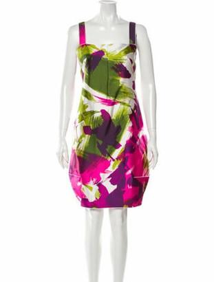 Dolce & Gabbana Printed Mini Dress Fuchsia