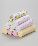 SpaSilk Pink Hippo Washcloth Set