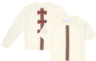 BURBERRY KIDS Corrina merino-wool sweater and top set