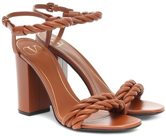 Valentino The Rope 100 leather sandals