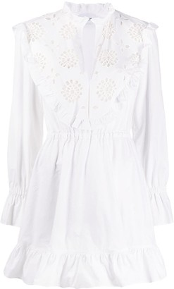 Dondup Embroidered Flared Dress