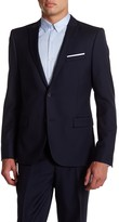 The Kooples Two Button Notch Collar Wool Suit Jacket