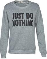 Blooming Jelly Women's Just Do Nothing Letter Printing Long Sleeve Hoodies