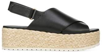 Vince Jesson Platform Espadrille Leather Slingback Sandals