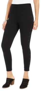 Style&Co. Style & Co Studded-Seam Leggings, Created for Macy's
