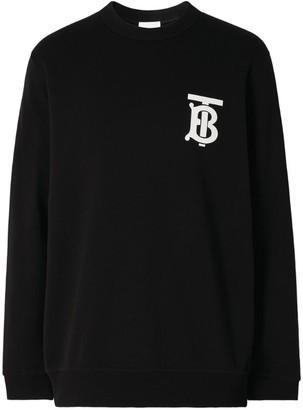 Burberry Cotton Tb Monogram Sweatshirt