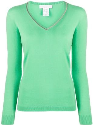 Fabiana Filippi cashmere embellished collar jumper