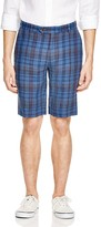 Brooks Brothers Plaid Linen Bermuda Shorts