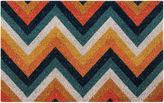 BETTER TRENDS Better Trends Chevron Printed Rectangle Doormat - 18X28