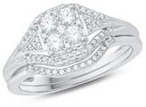 Zales 3/8 CT. T.W. Composite Diamond Square Bridal Set in 10K White Gold