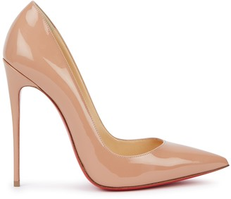 Christian Louboutin So Kate 120 Blush Patent Leather Pumps