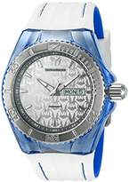 Technomarine Men's Quartz Watch with Silver Dial Analogue Display and White Silicone Strap TM-115154
