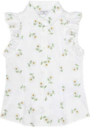 MonnaLisa Printed sleeveless cotton shirt
