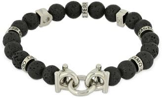 Salvatore Ferragamo 17cm Gancio Lavica Beads Bracelet