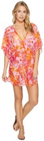 Lauren Ralph Lauren Lush Tropical Kimono Tunic Cover-Up Women's Swimwear