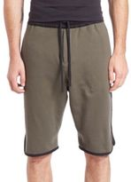 Public School Tryan Cotton Elongated Shorts