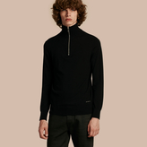 Burberry Zip-collar Cashmere Sweater