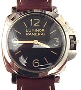 Panerai Luminor PAM372 Stainless Steel & Leather 47mm Watch