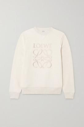 Loewe Embroidered Cotton-terry Sweatshirt - Ivory