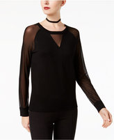 INC International Concepts Illusion-Sleeve Sweater, Created for Macy's