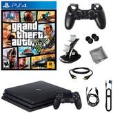 "Sony PlayStation 4 Pro 1TB Console with ""Grand Theft Auto V"" and 8-piece Starter Kit"