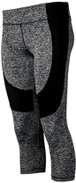 Therapy Gray Contrast-Panel Performance Capri Leggings