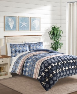 Sunham Closeout! Baja Blue 3-Pc. Full/Queen Comforter Set Bedding