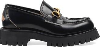 Gucci Leather lug sole Horsebit loafer