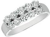 Morris & David Diamond and 14K White Gold Two-Row Ring, 1 TCW