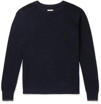 Bellerose Contrast-Tipped Waffle-Knit Wool Sweater