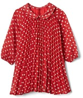 Gap Heart print pleated dress