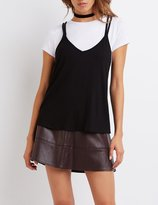 Charlotte Russe Strappy Layered Tee
