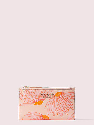 Kate Spade Spencer Falling Flower Small Slim Bifold Wallet