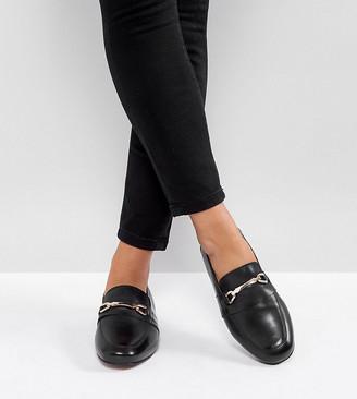 Asos Design DESIGN Wide Fit Movement leather loafers-Black