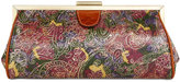 Patricia Nash Metallic Tooled Lace Athena Frame Clutch