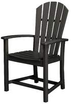 Polywood St. Croix Adirondack Dining Chair In Black