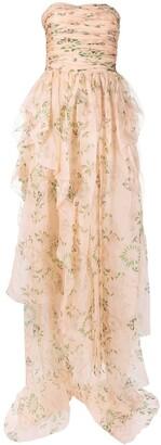 Ermanno Scervino Draped Strapless Gown