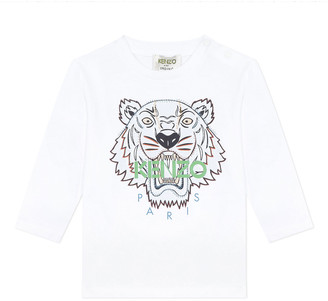 Kenzo Boy's Tiger Graphic Long-Sleeve T-Shirt, Size 6-18 Months