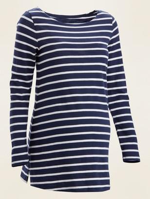 Old Navy Maternity Nautical-Stripe Long-Sleeve Boat-Neck Tee