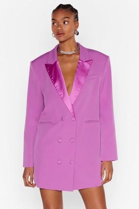 Nasty Gal Womens Blazer Mini Dress with Plunging V-Neckline - Purple