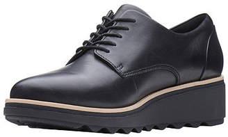 Clarks Womens Sharon Noel Closed Toe Oxford Shoes, 6 Medium, Black