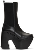 Marques Almeida Black Open Toe Platform Boots