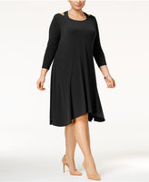 Alfani Plus Size Cutout Fit & Flare Dress, Only at Macy's