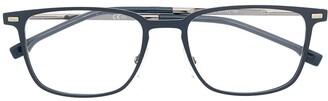 HUGO BOSS Rectangle-Frame Clear-Lens Glasses