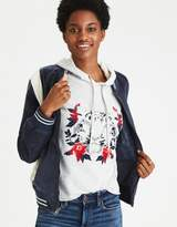 American Eagle Outfitters AE Embroidered Velveteen Bomber